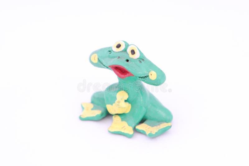 wyłączna żaby figurka jest ręcznie robiony od drewna ilustracji