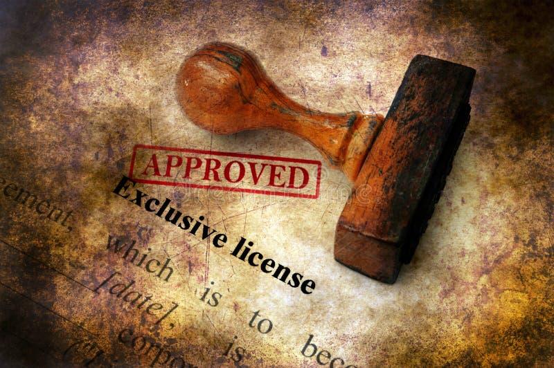 Wyłączna licencja - zatwierdzony grunge pojęcie fotografia royalty free