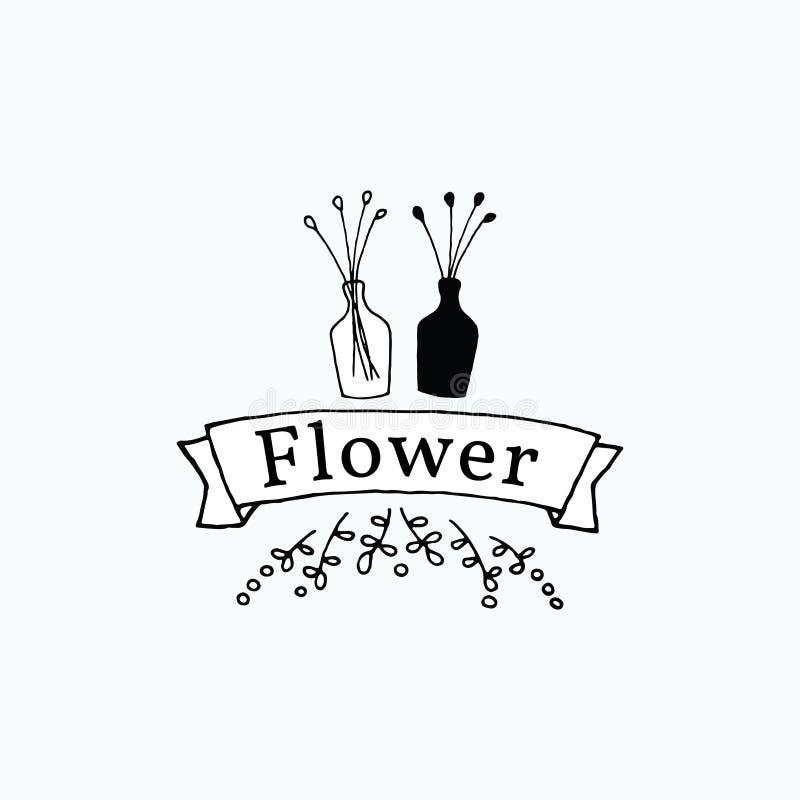 Wy??czny kwiat i waza set?w szablon ilustracji
