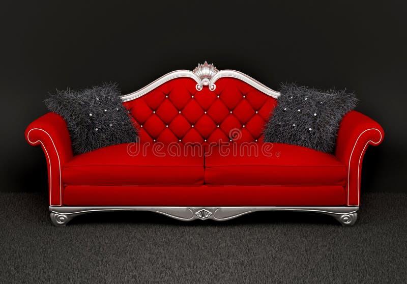 wyścieła owłosioną wewnętrzną nowożytną kanapę dwa royalty ilustracja