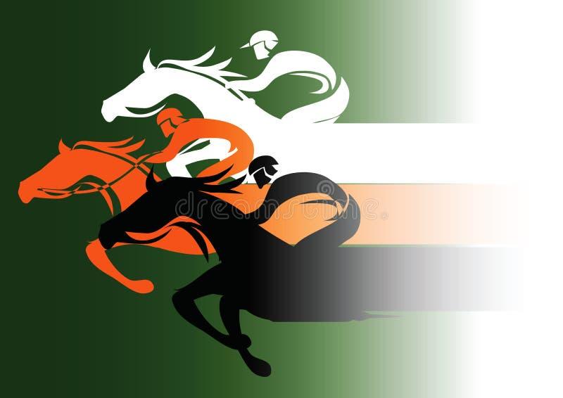 wyścig koni przewodów konia trzy zaokrągla się royalty ilustracja