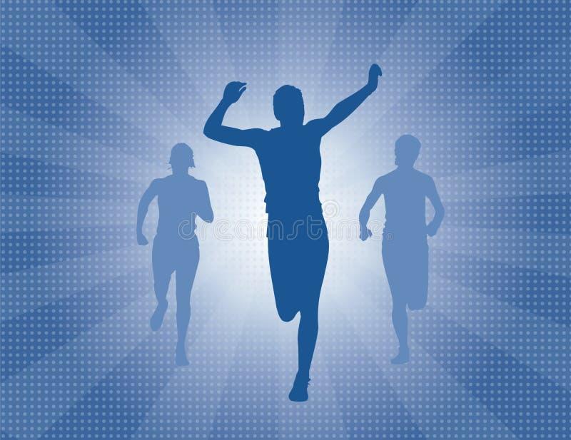 wyścig uciekiniera zwycięstwo ilustracji