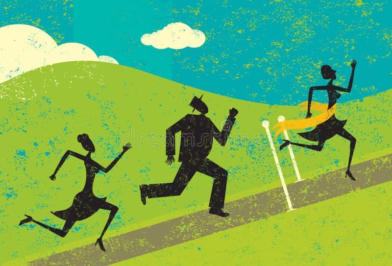 wyścig wygrywa ilustracja wektor