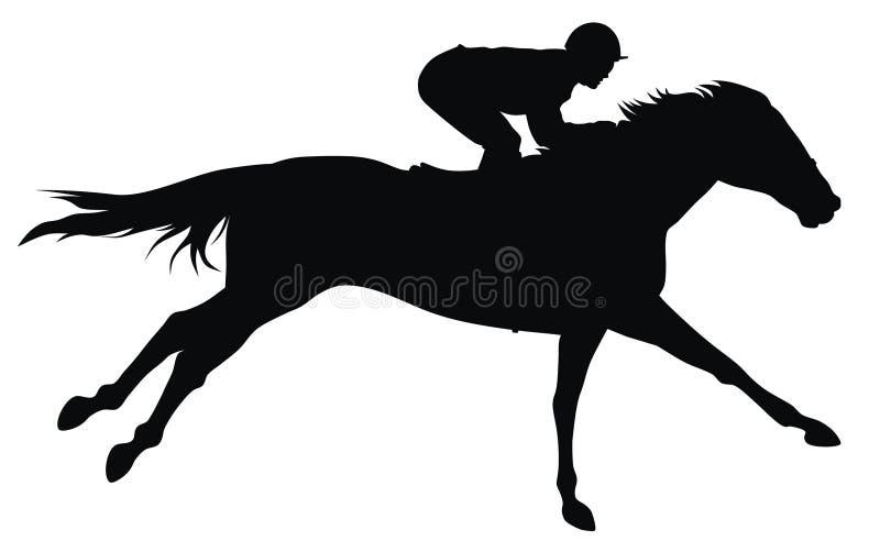 wyścigi konne ilustracja wektor