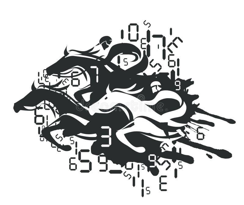 Wyścigi Konny i Zakładać się ilustracja wektor