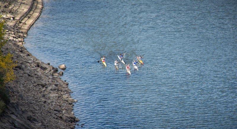 Wyścigi wodne w wiosłowaniu obrazy royalty free