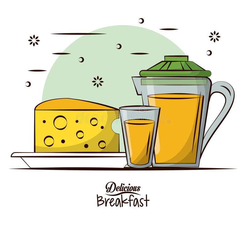 Wyśmienicie śniadaniowy jedzenie ilustracja wektor