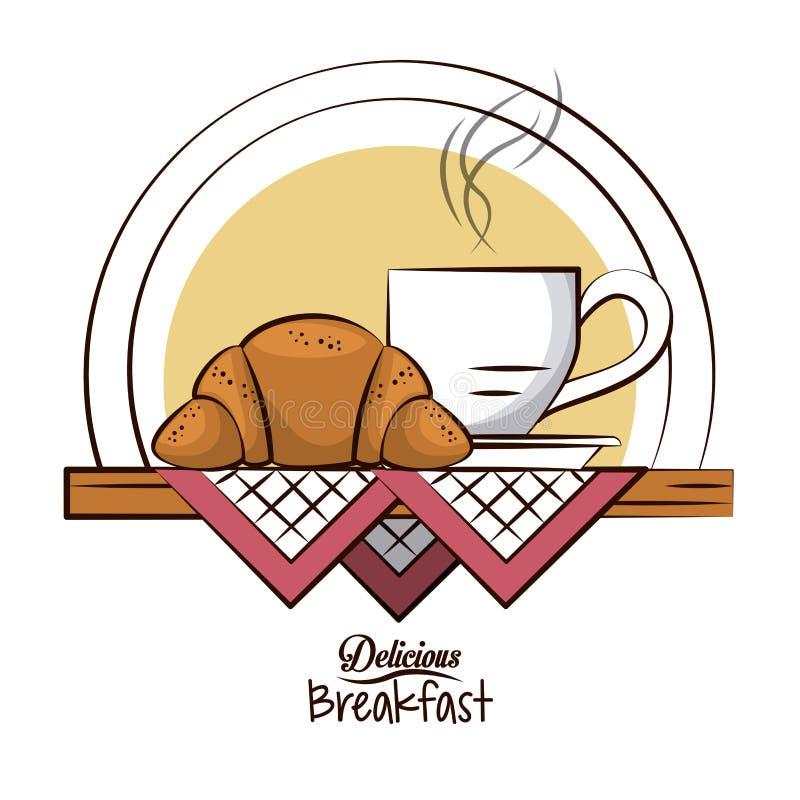 Wyśmienicie śniadaniowy jedzenie ilustracji