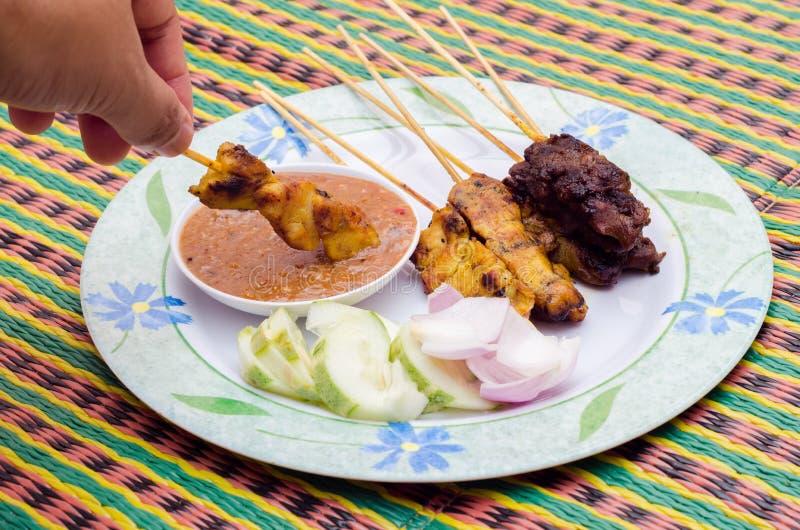 Wyśmienicie Azjatycka wołowina Satay i obraz stock