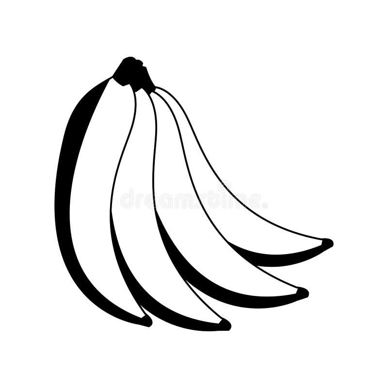 Wyśmienicie banan owoc w czarny i biały royalty ilustracja