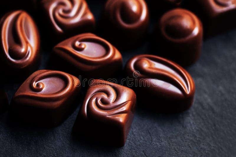 wyśmienicie cukierek czekolada Czekolady jako tło Praline s fotografia royalty free