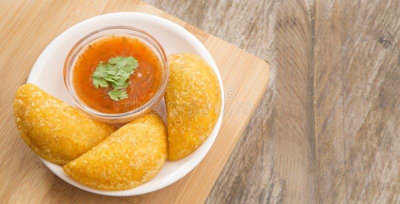 Wyśmienicie empanadas - Kolumbijska kuchnia zdjęcie royalty free