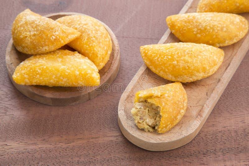 Wyśmienicie empanadas - Kolumbijska kuchnia fotografia stock