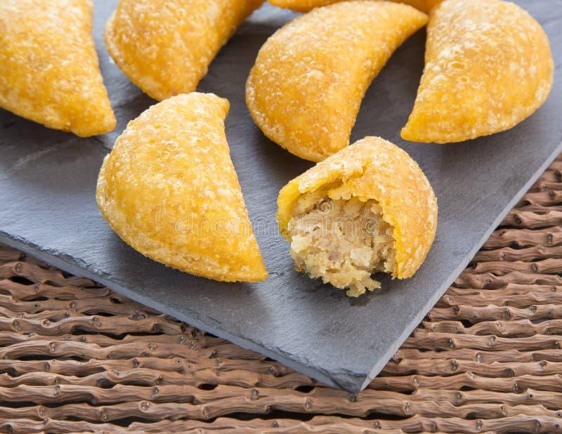 Wyśmienicie empanadas - Kolumbijska kuchnia obraz stock