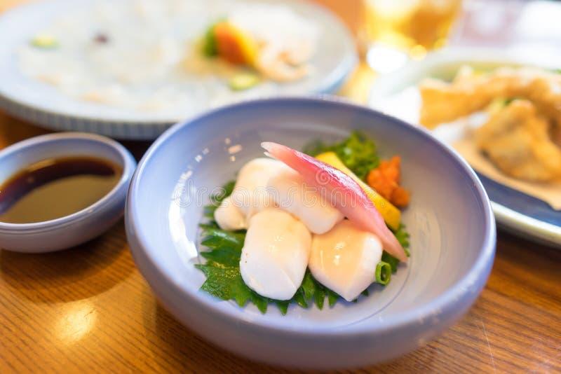 Wyśmienicie fugu sashimi fotografia stock