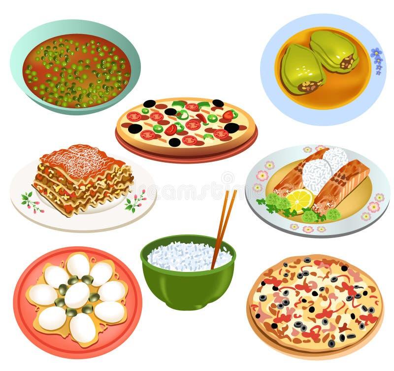 Wyśmienicie jedzenie ilustracja wektor