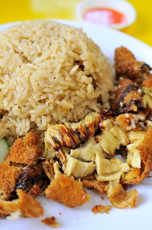 wyśmienicie kurczaków ryż obrazy stock