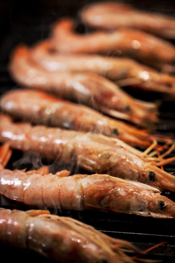 Wyśmienicie langoustines na grillu zdjęcie royalty free
