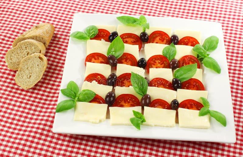 wyśmienicie mozzarelli sałatki pomidor fotografia royalty free