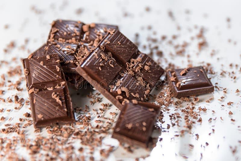 Wyśmienicie nutmeg czekoladowa dojna czekolada z dokrętkami fotografia royalty free