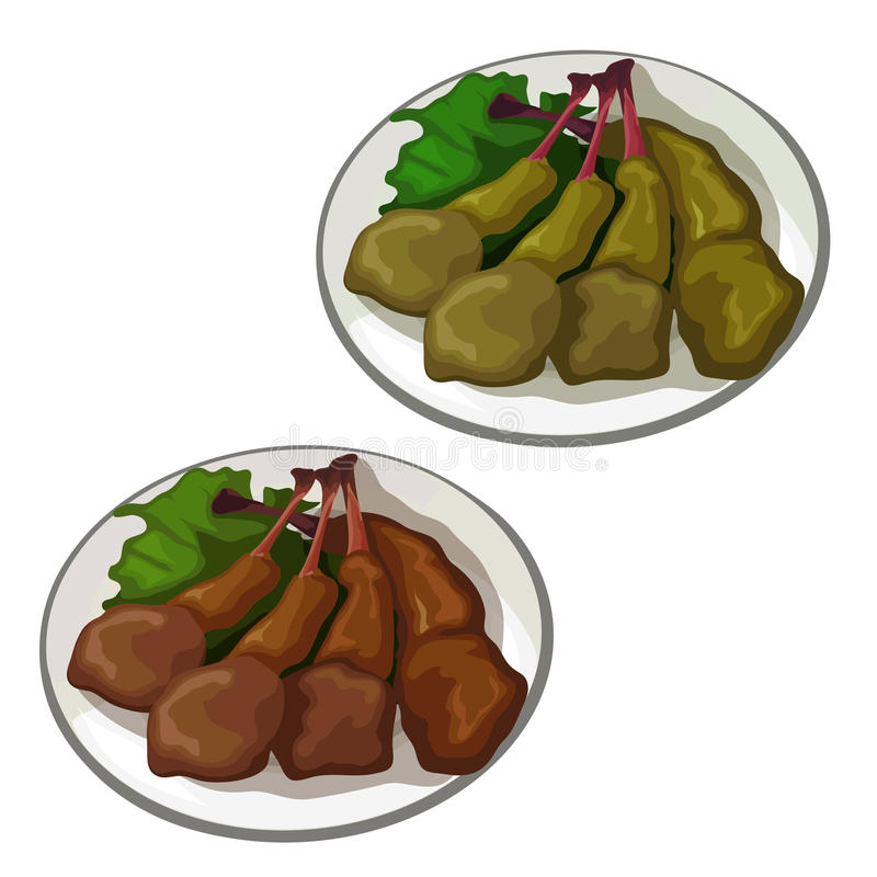 Wyśmienicie piec kaczek nogi Wektorowy jedzenie ilustracji