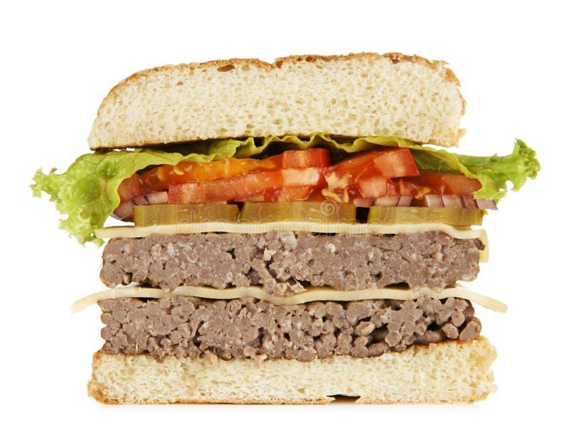 Wyśmienicie piec na grillu hamburger obraz royalty free