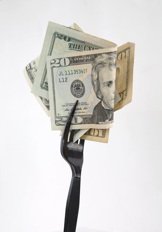 Wyśmienicie pieniądze jedzenie obraz royalty free
