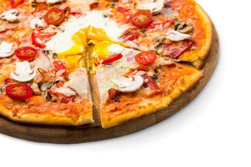 Wyśmienicie pizza z, bekonowy, zdjęcia royalty free