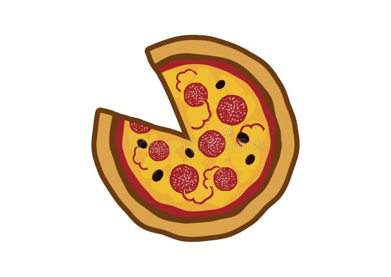 Wyśmienicie pizzy ikony wektoru ilustracja ilustracji
