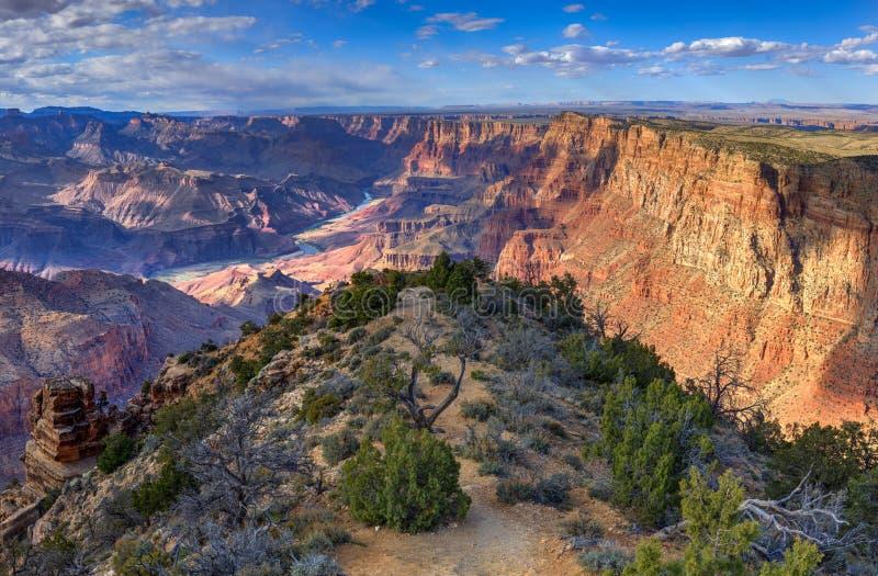 Wyśmienicie Pustynny widok, Pustynny widok Przegapia, Grand Canyon park narodowy, Arizona, usa fotografia stock