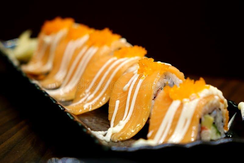 wyśmienicie rybiego jedzenia świeżej Japan japońskiej cytryny materialny surowy morze obraz stock