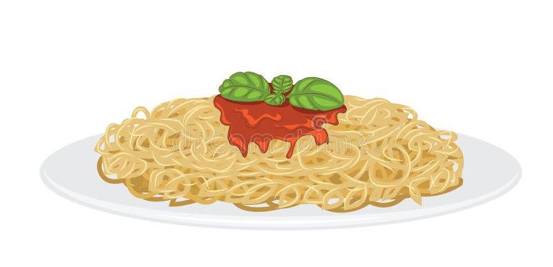 wyśmienicie spaghetti ilustracja wektor