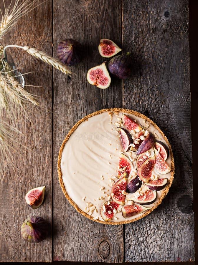 Wyśmienicie tarta z świeżymi figami fotografia stock