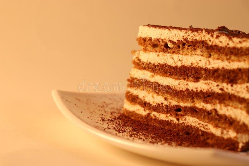 Wyśmienicie tort na talerzu zdjęcia royalty free