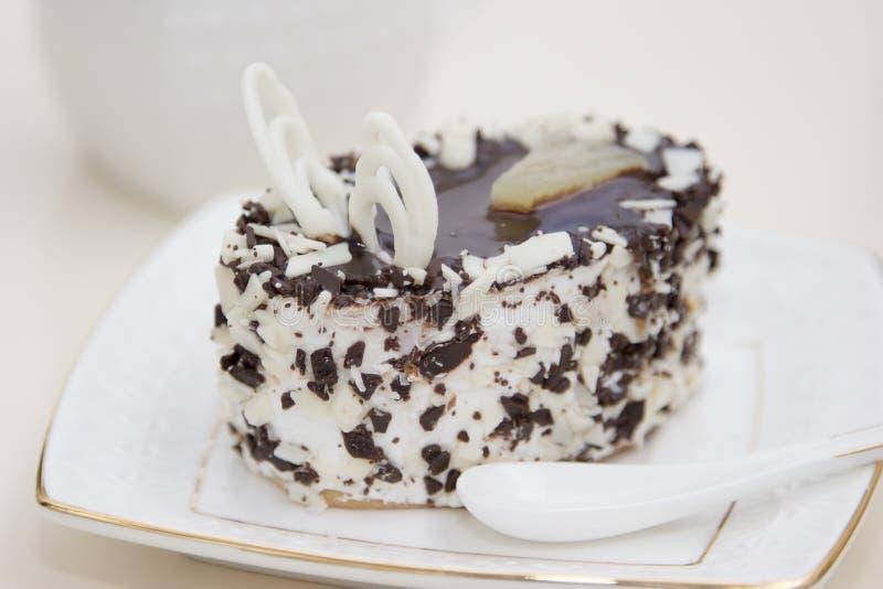 Wyśmienicie tort na talerzu zdjęcie stock