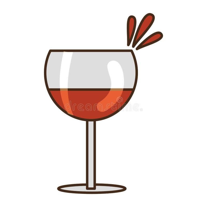 Wyśmienicie wino filiżanka ilustracji