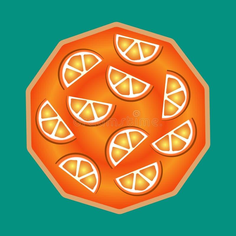 Wyśmienicie yummy pomarańcze tort używać dekorować sztandary, ulotki, promocje, strony internetowe, menu ilustracja wektor