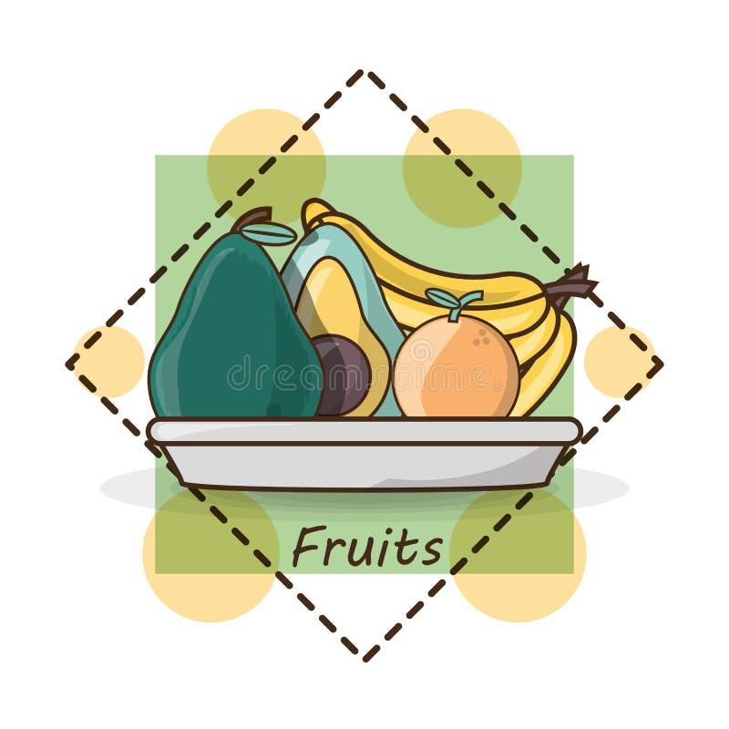 Wyśmienicie zdrowy jedzenie z odżywianie składnikami ilustracja wektor