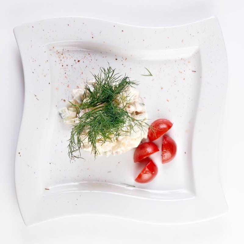 wyśmienita olivier sałatka zdjęcie royalty free