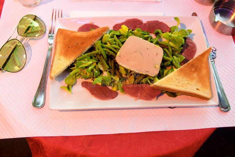Wyśmienity naczynie dla gościa restauracji fotografia royalty free