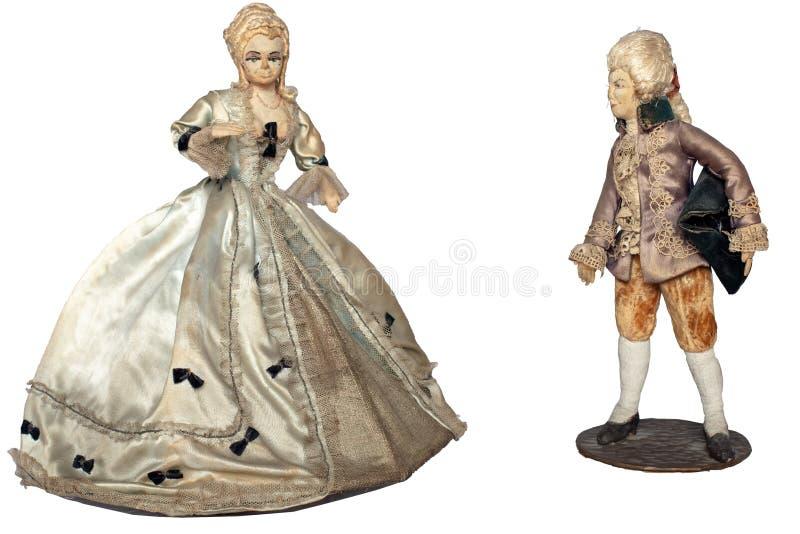 Wyśmienity papier - mache lale młoda kobieta i mężczyzna obrazy stock