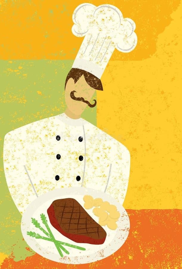 Wyśmienity szef kuchni ilustracji