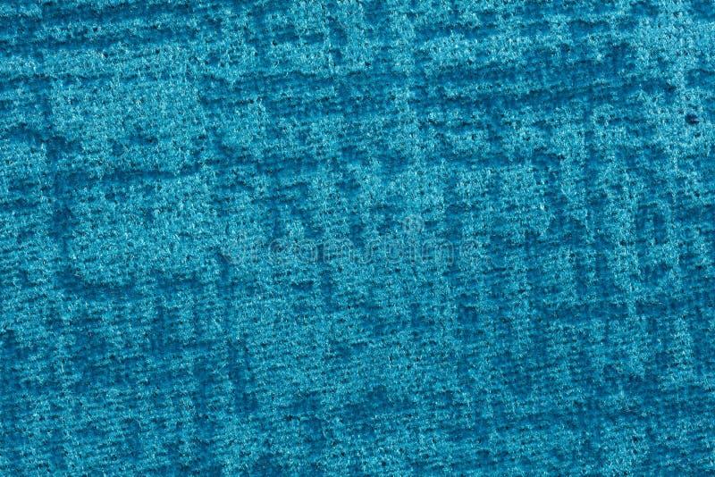 Wyśmienity tekstylny tło w unikalnym błękitnym brzmieniu zdjęcia royalty free