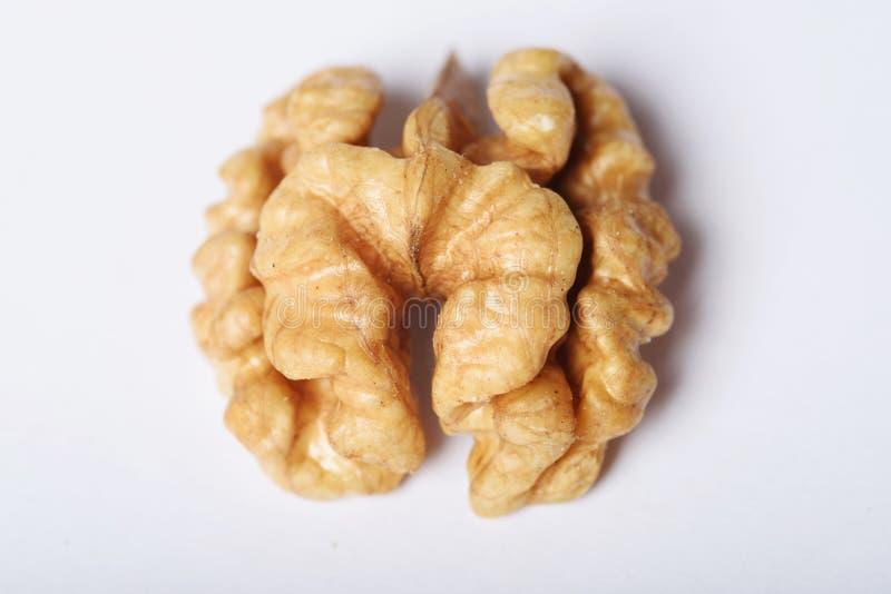 Wyższej ilości Nutmeat połówka zdjęcia stock