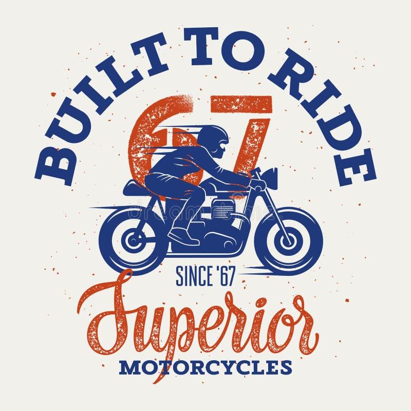 Wyższy motocykl 004 royalty ilustracja