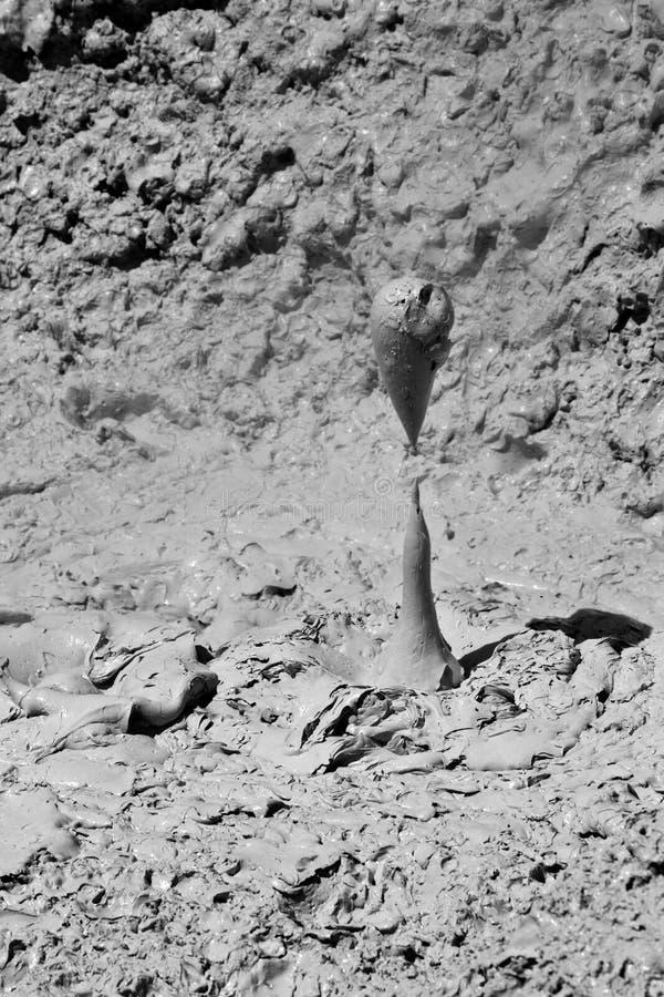 wy黄石的煮沸的接近的泥 库存图片