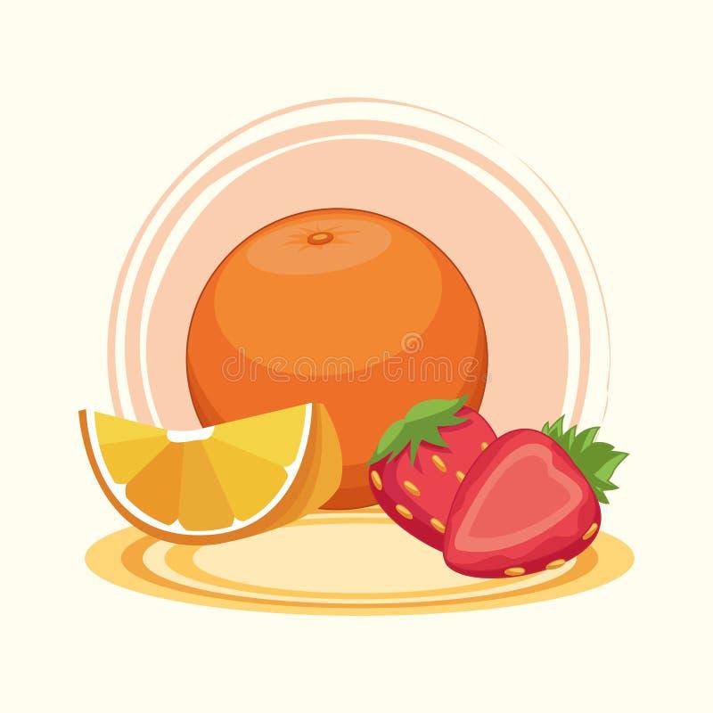 Wy?mienicie owoc kresk?wki ilustracja wektor