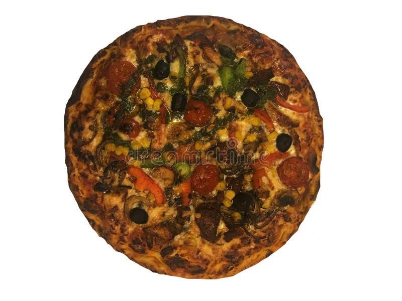 Wy?mienicie w?oska pizza odizolowywaj?ca na bia?ym tle zdjęcia royalty free