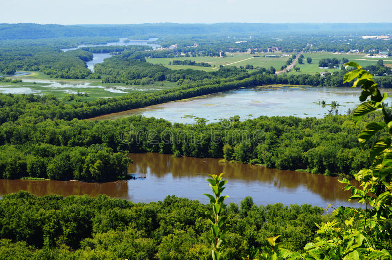 Wyalusing State Park. At the confluence of the Mississippi and Wisconsin rivers in the town of Wyalusing, just south of Prairie du Chien. One of the prettiest stock photos