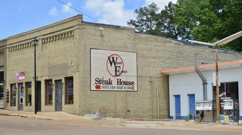 Wyatt Earp Steakhouse, Covington, TN stock image